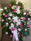 Spray Light Pink Roses and Hot Pink Roses