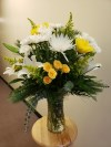 Vase White and Yellow