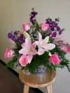 Mixed with Pink Roses