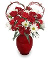 Heart with Red Mini Roses