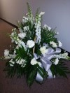 Floor Basket all White Flowers