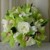 Green Cymbidium & White Roses