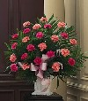 Basket of Pink Carnations 122