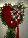 Red Heart with Cluster of Roses