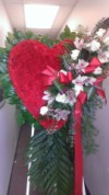 Red Heart with Orchids 321
