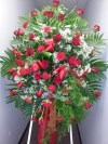 Spray Red Roses and Red Carnations