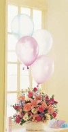 Mixed Basket with Latex Balloons