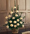 Basket of White Carnations 566